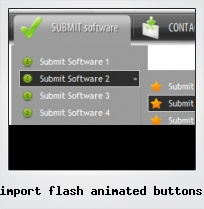 Import Flash Animated Buttons